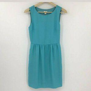 J.CREW Sundress Blue Sleeveless Ruched Plus Sz 16